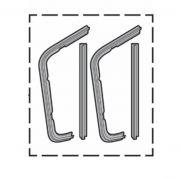 Borracha Quebra Vento pickup Chevrolet 55 a 59
