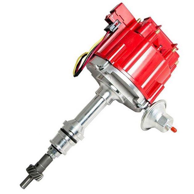 Distribuidor Eletrônico HEI para Ford V8 302 289 cor Vermelha