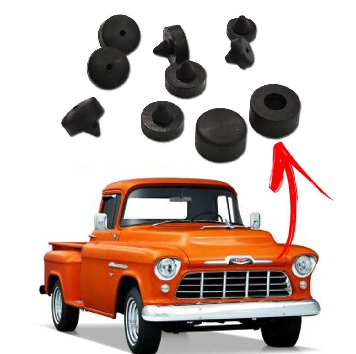 Kit Borrachas Batentes do Capô para pickup Chevrolet 1955 a 1959
